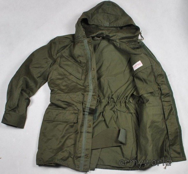 Military Dutch Parka Jacket Oliv Original Demobil