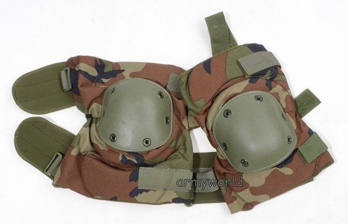 Military Dutch Protective Kneepads Woodland Original New