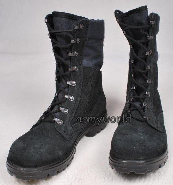 Military Dutch Shoes Suede Leather Black Original Demobil