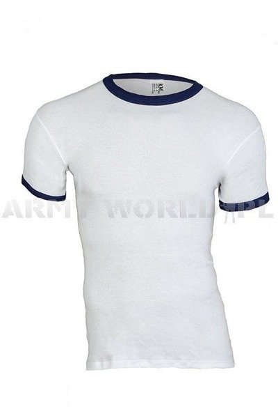 Military Dutch T-shirt White With Trimming Original Demobil