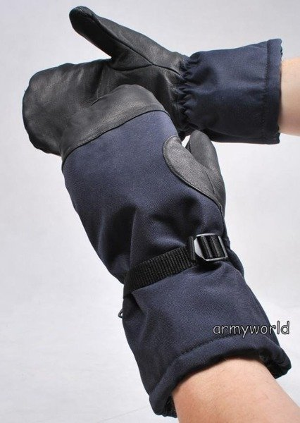 Military Dutch Warmed Gloves Navy Blue New