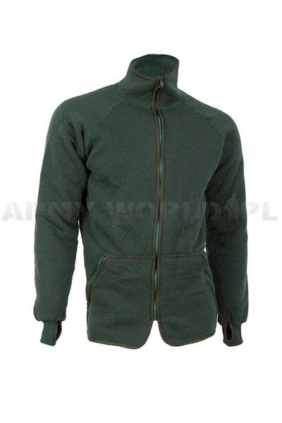 Military Dutch Woolen Fleece Jacket Original Demobil