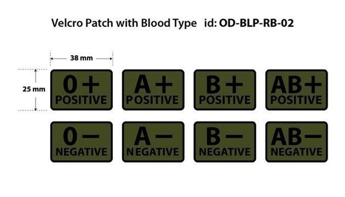 Military Emblem PVC blood patch - Helikon-tex - SET OF 2 PIECES- Oliv