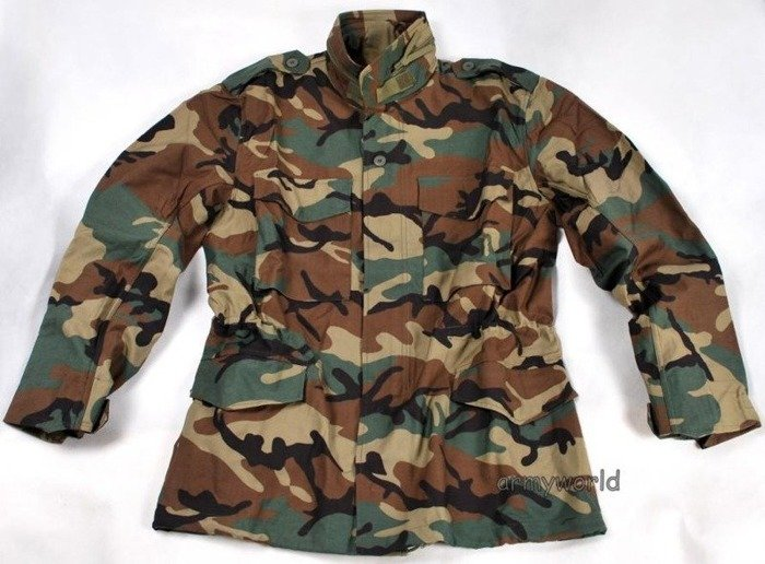 Military Field Jacket Model M65 Woodland Nyco  Mil-Tec TESSAR.INC