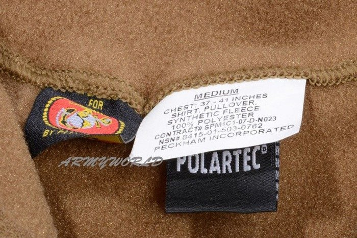 Military Fleece Jacket USMC POLARTEC Coyote Original Demobil