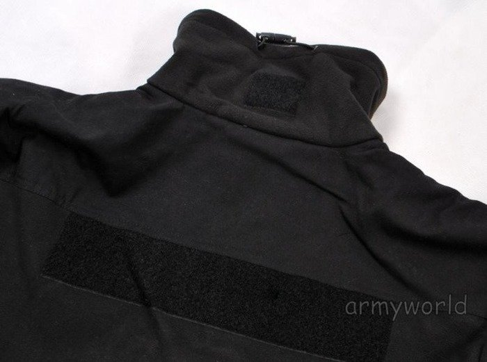Military Fleece Jacket Windproof Mil-tec Black New
