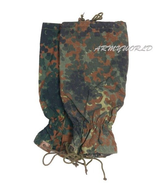 Military Gaiters Bundeswehr Flecktarn Gore-tex Original Demobil