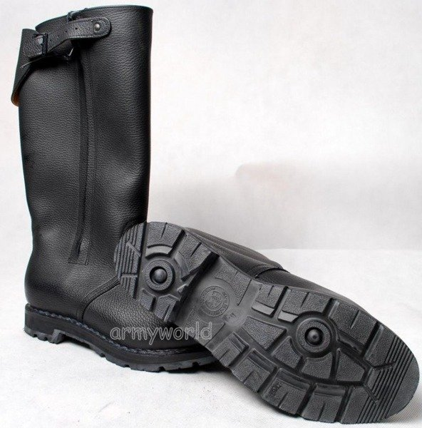 Military Jackboots Warmed With FurOficerki New Model Original Demobil Very Good Condition