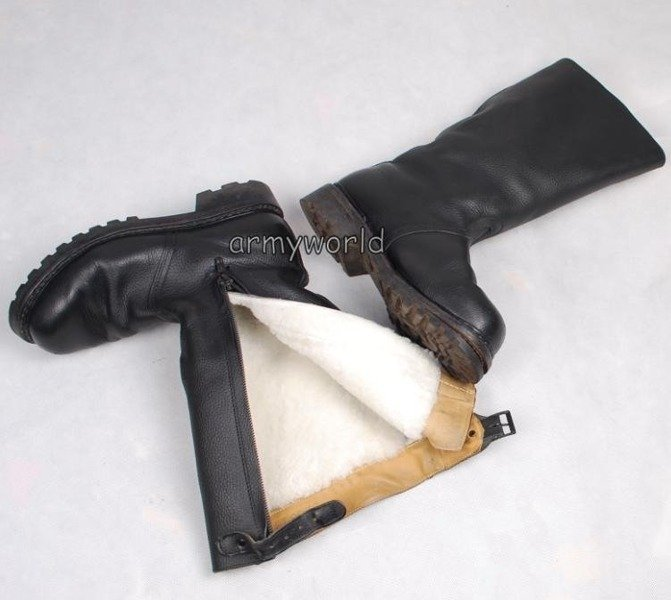 Military Jackboots Warmed with Fur With Zipper OriginalDemobil II Quality