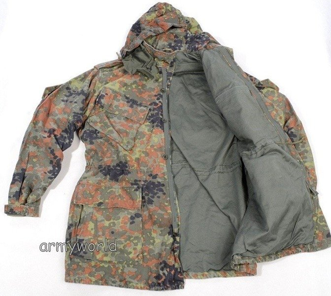 Military Jacket Bundeswehr Flecktarn Version II Original Demobil