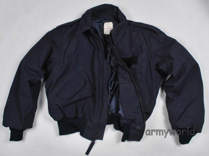 Military Jacket SECURITY POLICE Winter Version US ARMY Dark Blue Original Demobil