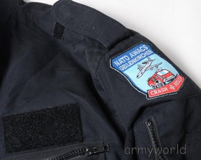 Military Jacket US ARMY Albatros With Patch Of Awacs Original Demobil