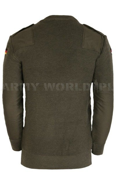 Military Jumper Bundeswehr Oliv Woolen Original Demobil