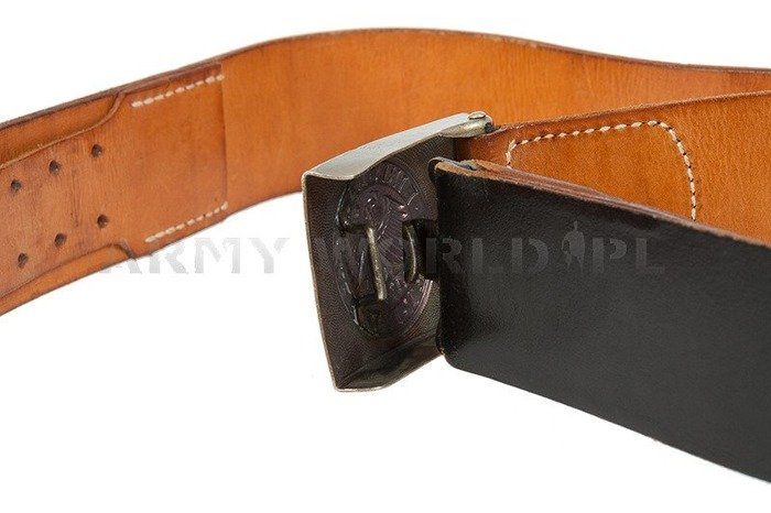 Military Leather Gala Belt Bundeswehr Original Demobil SecondHand
