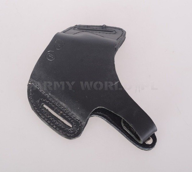 Military Leather Gun Holster Butterfly Type Black Original Used