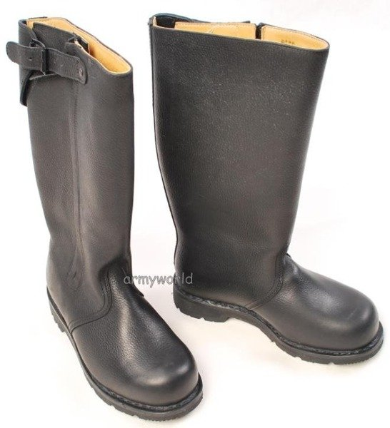 Military Leather Jackboots Bundes Marine BALTES Warmed With Fur Original New