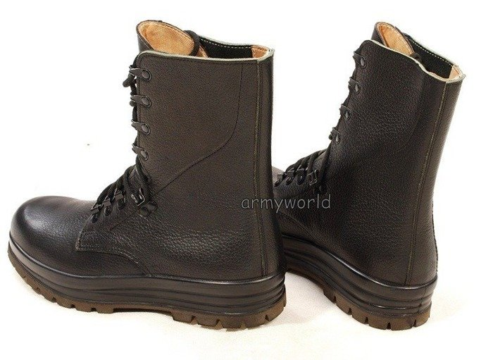 Military Leather Swiss Boots Original Demobil Fur Lining