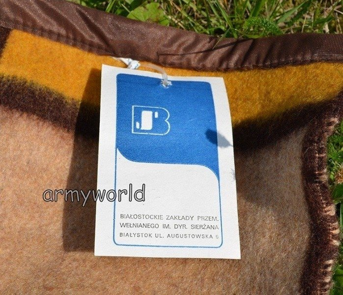 Military Medical woolen blanket Polish 200 x 150 cm Brown Original - New