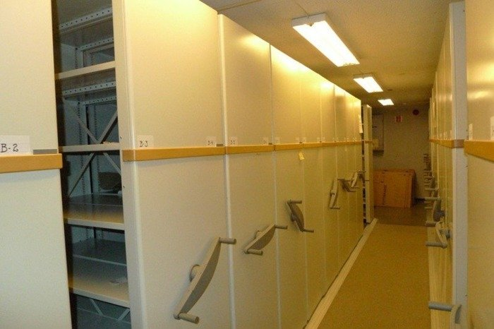 Military Mobile Archive Shelving HovikStal, Flexi Mobile 15 tons