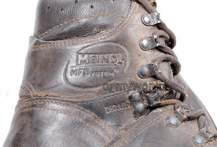 Military Mountain Shoes Meindl Gore-tex Brown Original Demobil Good Condition