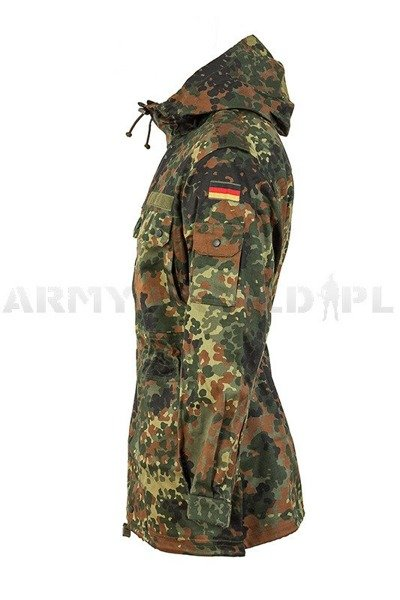 Military Parka Jacket Bundeswehr Flecktarn Original New