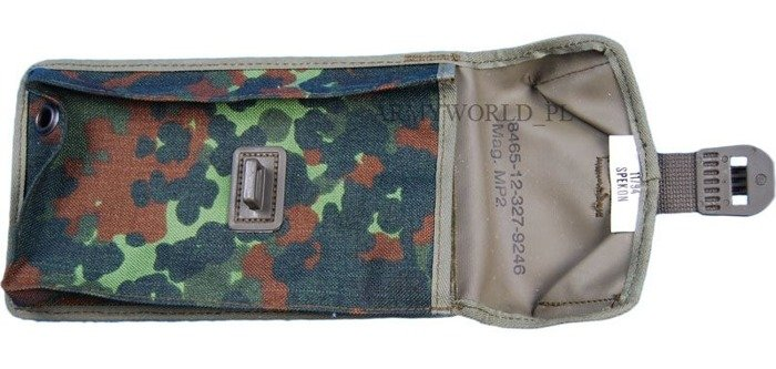 Military Pouch Bundeswehr Flecktarn MP2 (UZI) Original Demobil
