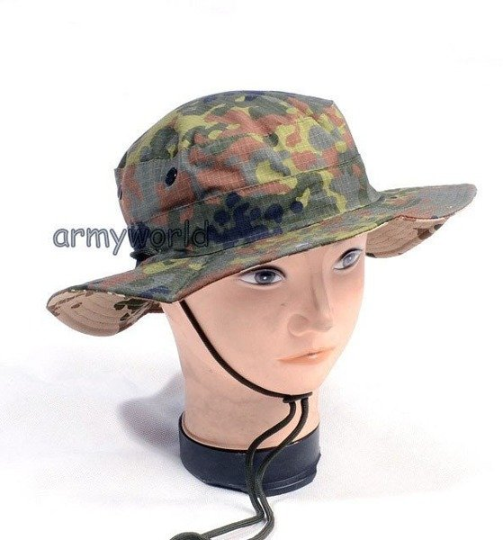 Military Reversible Hat Flecktarn / Tropentarn Ripstop Mil-tec New