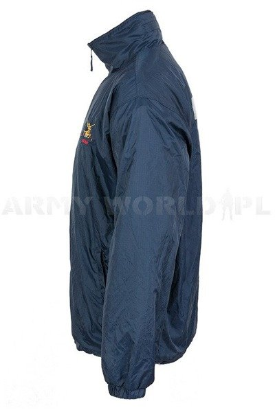 Military Reversible Jacket / Fleece Blue Mase Navy Blue Used