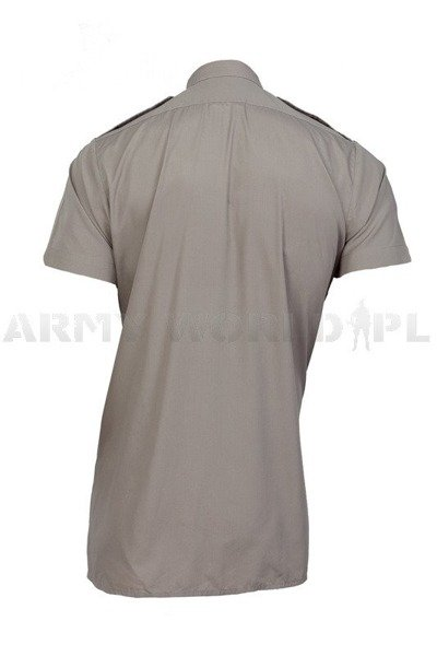 Military Shirt FAWN ARMY ALL RANKS Original Short Sleeves Grey Demobil