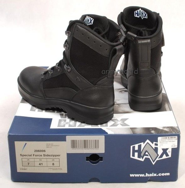Military Shoes Special Force Haix Original Black  II Quality