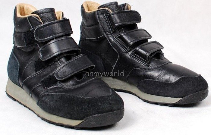 Military Shoes of Aviation Service Bundeswehr With Velcro Original Older Version Demobil II Quality