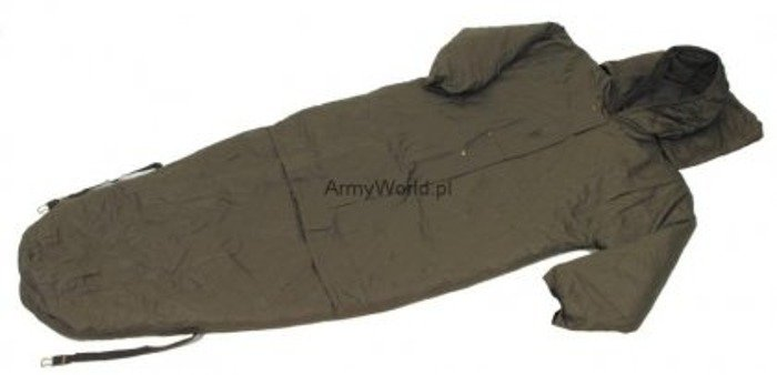 Military Sleeping Bag Waterproof With Sleeves Bundeswehr Original Demobil Good Condition
