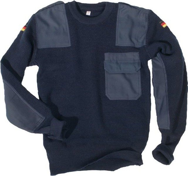 Military Sweater Bundeswehr Dark Blue Original Demobil