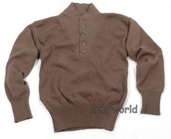 Military Sweater US ARMY DSCP Brown Original New