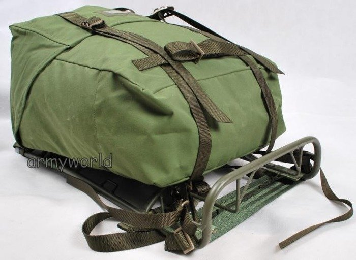 Military Swedish Backpack With Frame Model M75 Original Demobil
