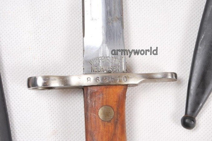 Military Swiss Bayonet Model K 31 With Leather Element Original New