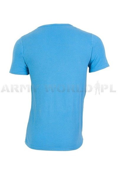 Military T-Shirt Blue Bundeswehr Original Demobil
