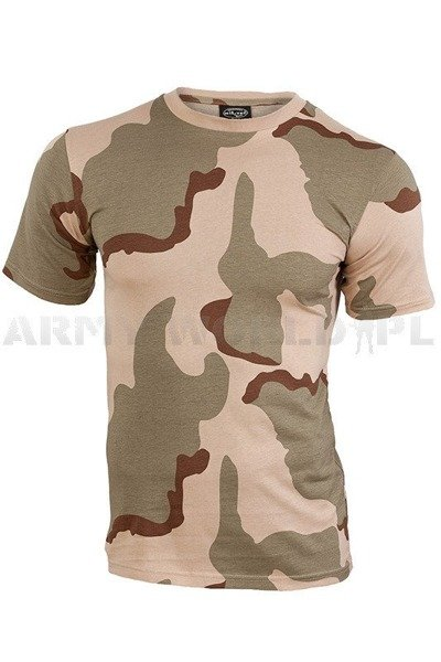 Military T-shirt  3-Color Short sleeves Mil-tec New
