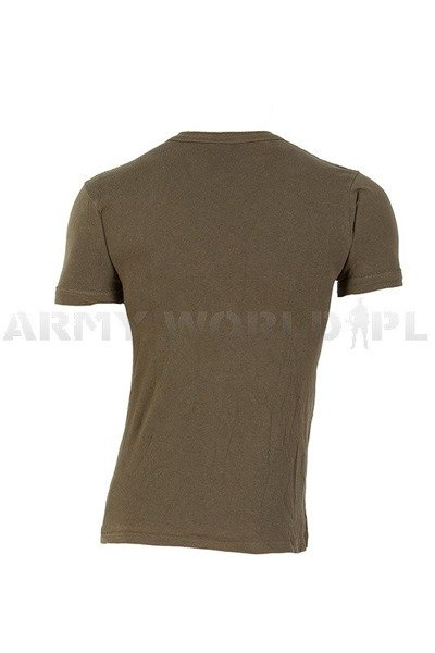 Military T-shirt Bundeswehr Oliv With Short Sleeves Original Demobil