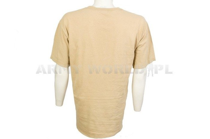 Military T-shirt With Badge Beige Original Used
