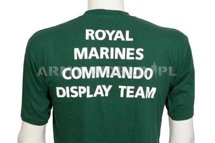 Military T-shirt With Badge Join The Royal Marines Green Original Used