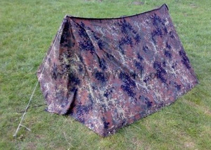Military Tent Flecktarn Original Bundeswehr Set of Kangools Jackets Original Demobil
