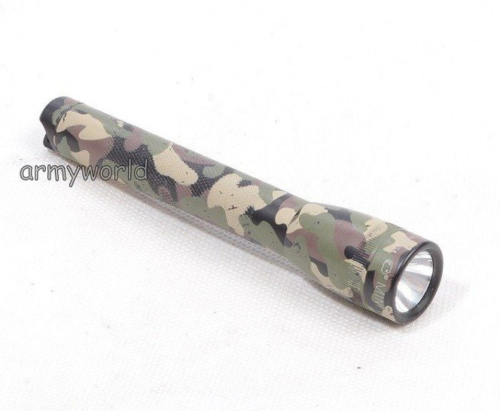 Military Torch Mini Magalite AA Camouflage Made in USA Demobil