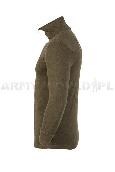 Military Trikot Leotard Bundeswehr Oliv With Long Sleeve Original Demobil