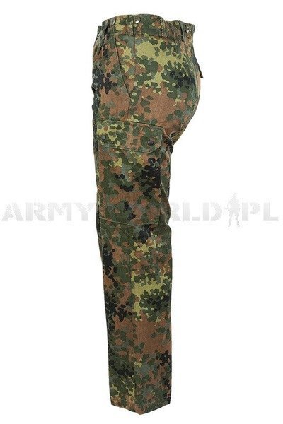 Military Trousers Flecktarn Bundeswehr Cargo Pants Original Demobil Set of 10 pieces - II Quality