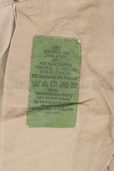 Military Trousers KSK Special Forces Bundeswehr Desert Original Demobil SecondHand