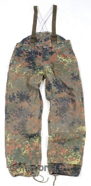 Military Trousers KSK Special Forces Bundeswehr With Braces Flecktarn Original Used