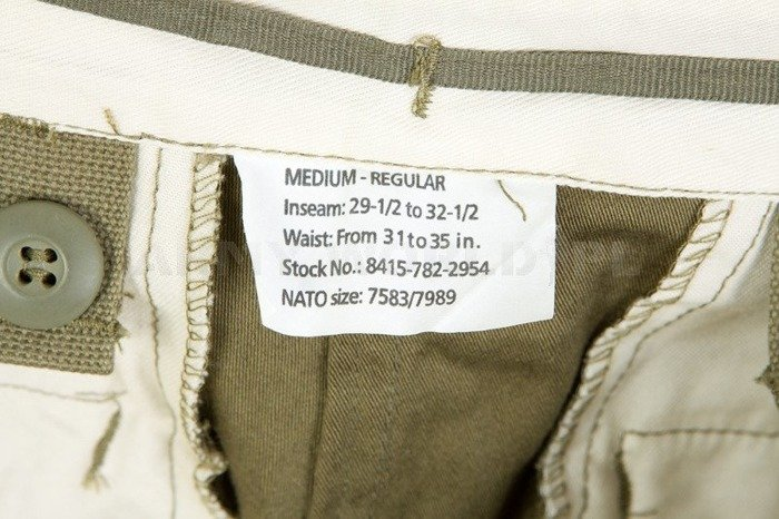 Military Trousers Model M65 Oliv Nyco Mil-tec New