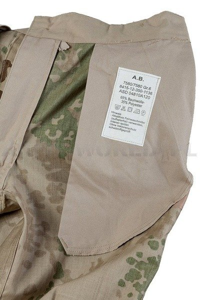 Military Trousers Tropentarn / Wustentarn Military Bundeswehr Original Demobil Set of 10 pieces