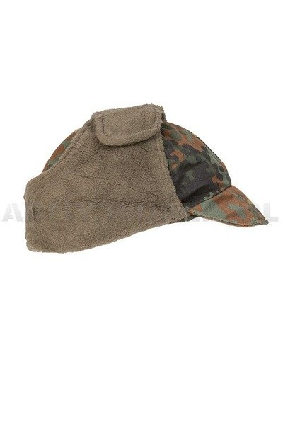 Military Ushanka Cap Bundeswehr Flecktarn Demobil Set of 10 pieces